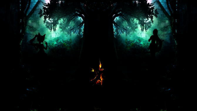 Yurixy Dark Forest by Holybr via Deviantart.com. Creative Commons.