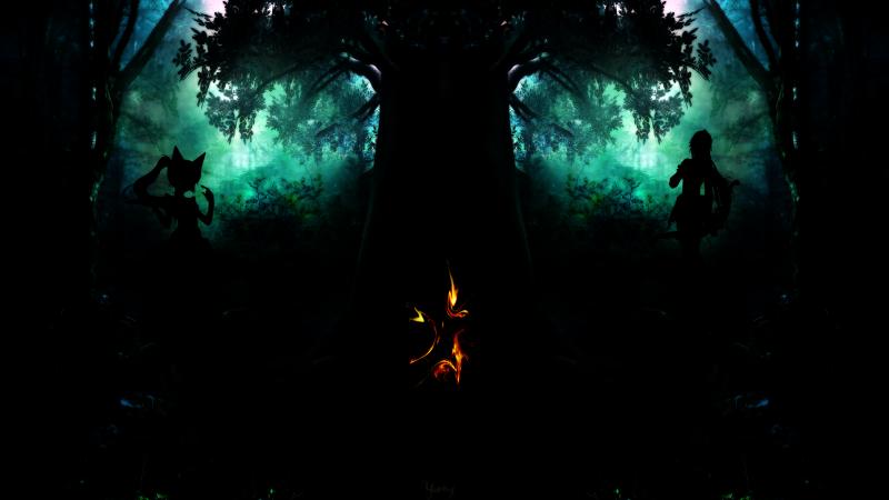 Yurixy Dark Forest by Holybr via Deviantart.com. Creative Commons.