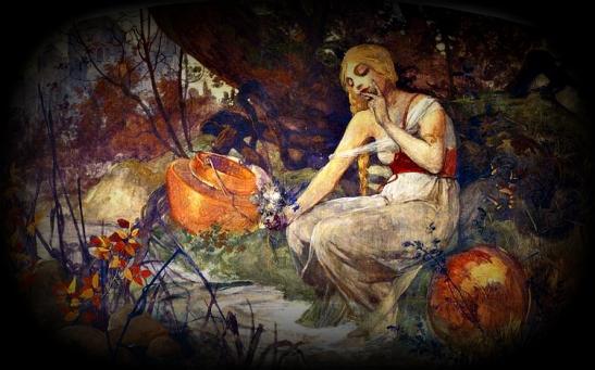 Alphonse Mucha.  Prophetess, 1896. WikiArt.