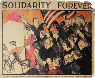 Anita Wilcox.  Solidarity Forever Poster. Wikimedia.