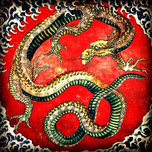 Hokusai. Dragon. WikiArt.