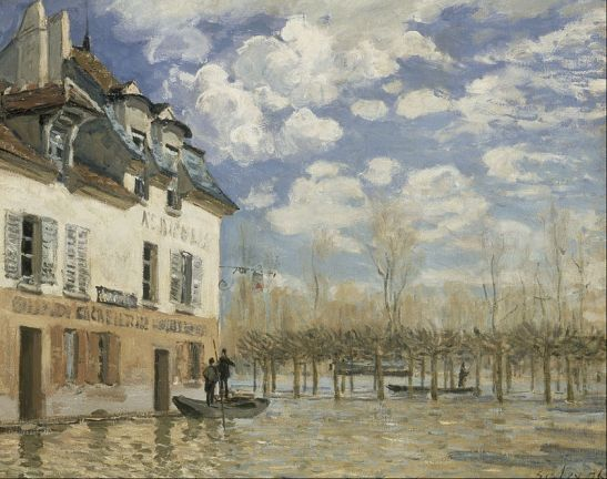Alfred Sisley. Flood at Port-Marley, 1876. Wikimedia.