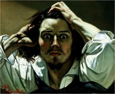 Gustave Courbet.  Desperate Man - Self Portrait, 1845. WikiArt.
