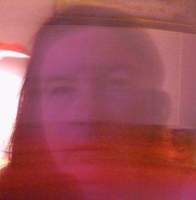 When you took your selfie, the red image did not replace you. Now it does.