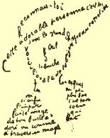 """""""Calligramme"""" by Guillaume Apollinaire"""