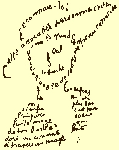 """Calligramme"" by Guillaume Apollinaire"