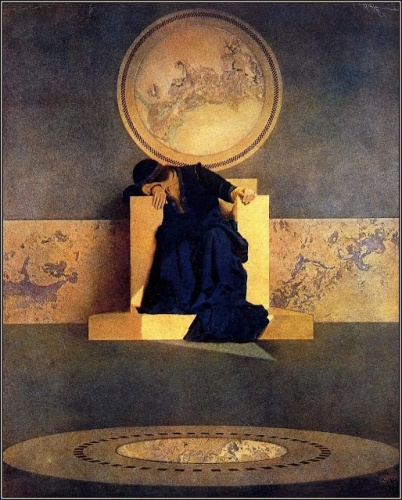 Maxfield Parrish.  The Young King of the Black Isles, 1906.