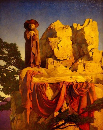 Maxfield Parrish. From The Story of Snow White. WikiMedia.