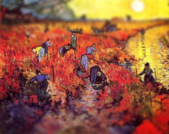 Vincent Van Gogh.  Red Vineyard at Arles, 1888.  3D Adaption: Tumblr