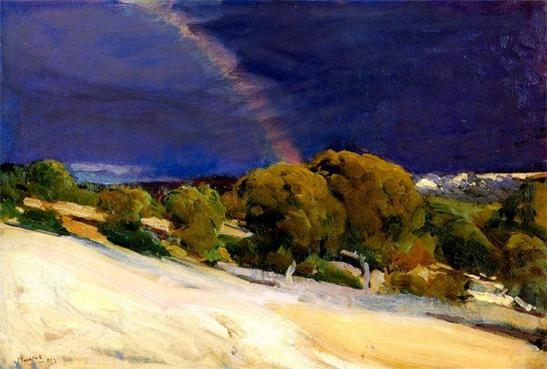 Joaquin Sorolla.  The Rainbow, 1907. WikiArt.