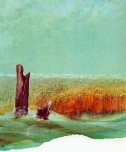overgrown harbor of Stavoren (oil-painting)