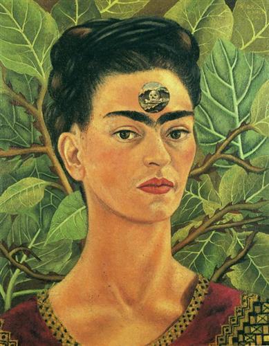 Frida Kahlo. Pensando en la Muerte. WikiArt.