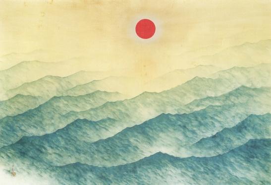 Yokoyama Taikan. Black Wave, 1940. Via Tumblr.