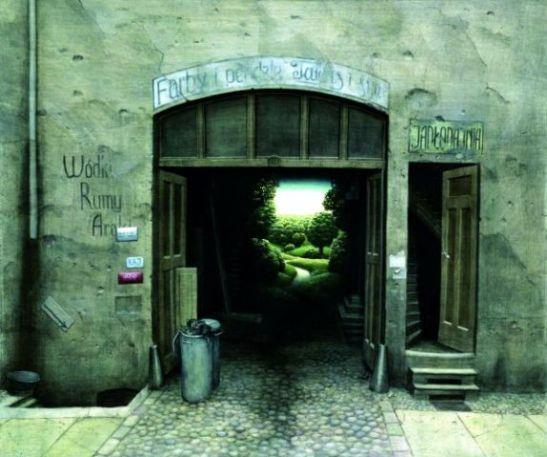 Jacek Yerka. A Door. WikiArt.