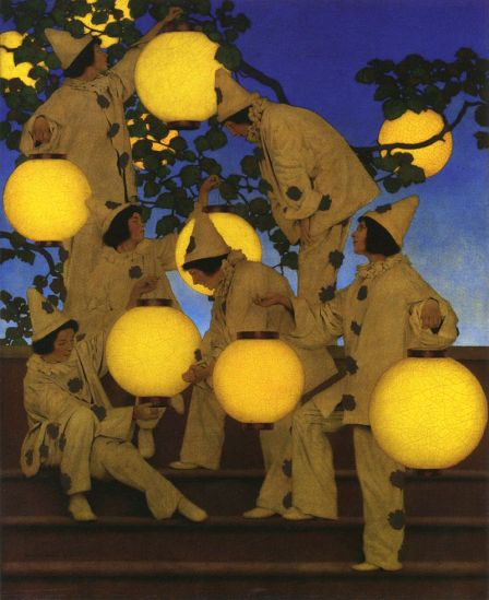 Maxfield Parrish. The Lantern Bearers, 1908. Wikimedia.