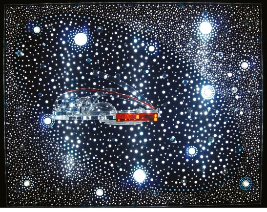 Gyula Kosice. Constellation and Habitat of the Hydrospatial City, 1973. Wikiart.