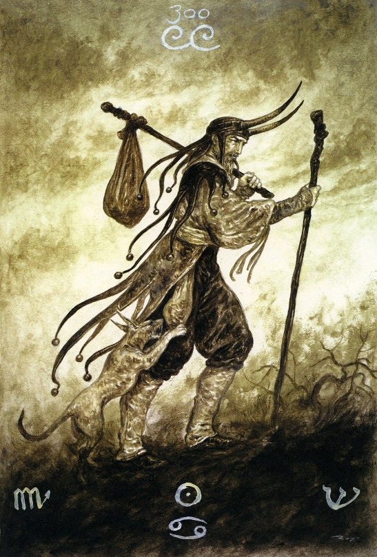 luis royo_the labyrinth tarot_major arcana_the fool
