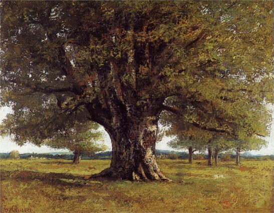 Gustave Corbet. Oak of Flagey, 1864. WikiArt.