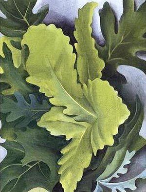 Georgia O'Keeffe. Green Oak Leaves.